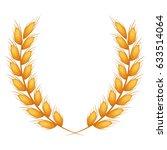 wheat ear icon. food grain... | Shutterstock .eps vector #633514064