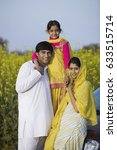 a typical rural family   | Shutterstock . vector #633515714