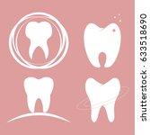 dental design teeth set icon... | Shutterstock .eps vector #633518690