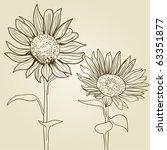 sunflower background | Shutterstock .eps vector #63351877