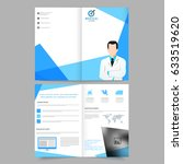 medical care brochure  template ... | Shutterstock .eps vector #633519620