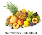 fruit on a white background | Shutterstock . vector #63353023