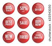 set sale badge glossy. vector... | Shutterstock .eps vector #633543050