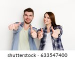 couple with thumb up gesture... | Shutterstock . vector #633547400