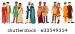 people in national traditional... | Shutterstock . vector #633549314
