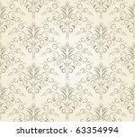 damask seamless pattern. vector   Shutterstock .eps vector #63354994