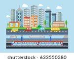 urban modern city landscape... | Shutterstock . vector #633550280