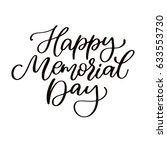 memorial day vector hand... | Shutterstock .eps vector #633553730