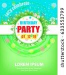 birthday party invitations... | Shutterstock .eps vector #633553799