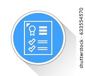 business report button icon... | Shutterstock . vector #633554570