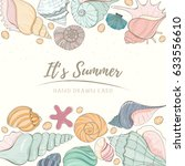 summer paradise holiday marine... | Shutterstock .eps vector #633556610