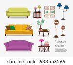 interior. sofa sets and home... | Shutterstock .eps vector #633558569