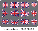 collection set of flag united... | Shutterstock .eps vector #633560054