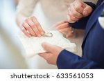 bride change wedding rings | Shutterstock . vector #633561053