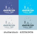 trendy camping label. hand... | Shutterstock .eps vector #633563456