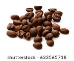 coffee beans on white background | Shutterstock . vector #633565718
