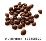 coffee beans isolated on a... | Shutterstock . vector #633565820