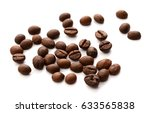 coffee beans isolated. | Shutterstock . vector #633565838