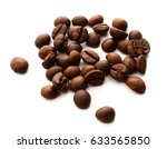 roasted coffee beans isolated... | Shutterstock . vector #633565850