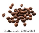 coffee beans on white | Shutterstock . vector #633565874