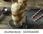 homemade soda black cow ice... | Shutterstock . vector #633566600