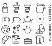 set of linear icons for... | Shutterstock .eps vector #633568880