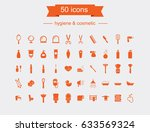 50 icons set. hygiene and... | Shutterstock .eps vector #633569324