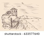 villa on the mountain in the...   Shutterstock .eps vector #633577640