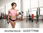 young beautiful athlete woman... | Shutterstock . vector #633577988