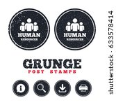 grunge post stamps. human... | Shutterstock .eps vector #633578414