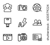 picture icons set. set of 9... | Shutterstock .eps vector #633579224