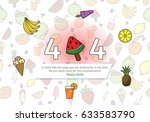 404 error page summer fruit... | Shutterstock .eps vector #633583790