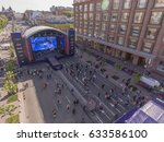 eurovision village on... | Shutterstock . vector #633586100