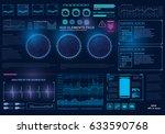 futuristic virtual graphic... | Shutterstock .eps vector #633590768