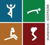 doing icons set. set of 4 doing ... | Shutterstock .eps vector #633593288
