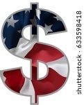 dollar signs. illustration eps... | Shutterstock .eps vector #633598418