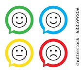 smile icons. happy  sad and... | Shutterstock .eps vector #633599306