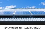 solar panels on the roof of a... | Shutterstock . vector #633604520