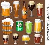alcohol beer vector... | Shutterstock .eps vector #633607763