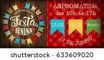 festa junina illustration... | Shutterstock .eps vector #633609020