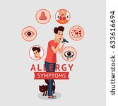 allergy symptoms concept with... | Shutterstock .eps vector #633616694