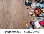 cosmetic and manicure set on... | Shutterstock . vector #633629948