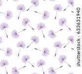 purple dandelions seed floral... | Shutterstock . vector #633631940