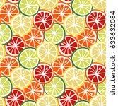 fruit yellow lemon green lime... | Shutterstock . vector #633632084