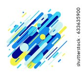 vector illustration of dynamic... | Shutterstock .eps vector #633635900