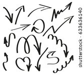 set of hand drawn arrows | Shutterstock . vector #633636140