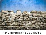 Old Sandbag Wall For Flooding...