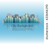 glossy city background | Shutterstock .eps vector #633646190