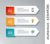 infographic arrow design... | Shutterstock .eps vector #633649280