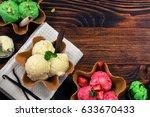 homemade ice cream | Shutterstock . vector #633670433
